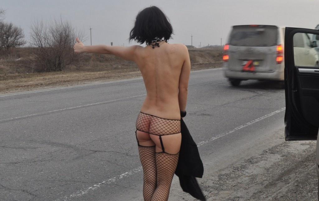 Смотреть порно шлюхи на дороге